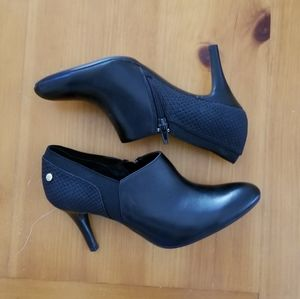 Calvin Klein Black Ankle Booties Heels
